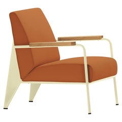 Vitra Fauteuil de Salon Armchair in Cognac with Ecru Base by Jean Prouvé