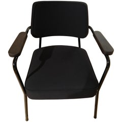 Vitra Fauteuil Direction in Black Twill & Deep Black by Jean Prouvé, 1stdibs NY