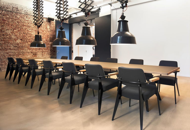 Vitra Feuteuil Direction in Dark Gray and Chocolate by Jean Prouvé In New Condition For Sale In New York, NY
