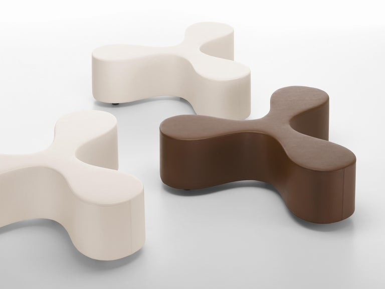 These items are only available in the United States.  Flower is a bench with a slender centre and petal-shaped seat design reminiscent of a clover or a stylized blossom. It comfortably accommodates at least three people who can either engage in