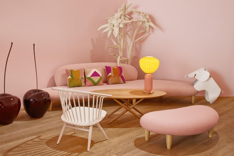 Swiss Vitra Freeform Sofa in Pink by Isamu Noguchi For Sale