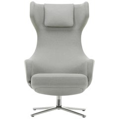 Vitra Grand Repos Lounge Chair in Cement Mello by Antonio Citterio