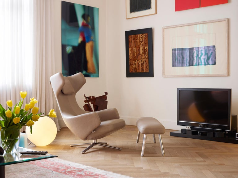 Swiss Vitra Grand Repos Lounge Chair in Rock Credo by Antonio Citterio For Sale