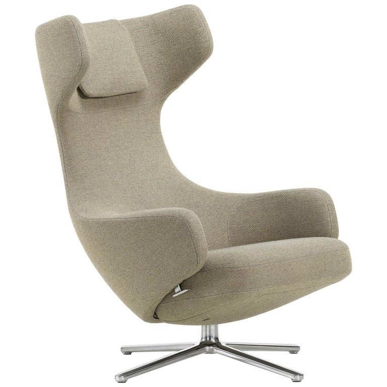 Vitra Grand Repos Lounge Chair in Rock Credo by Antonio Citterio For Sale