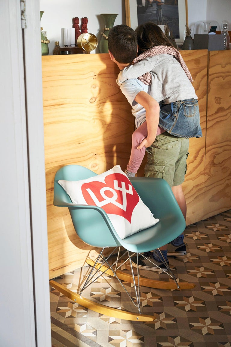 Contemporary Vitra Graphic Pillow with Love Heart by Alexander Girard For Sale