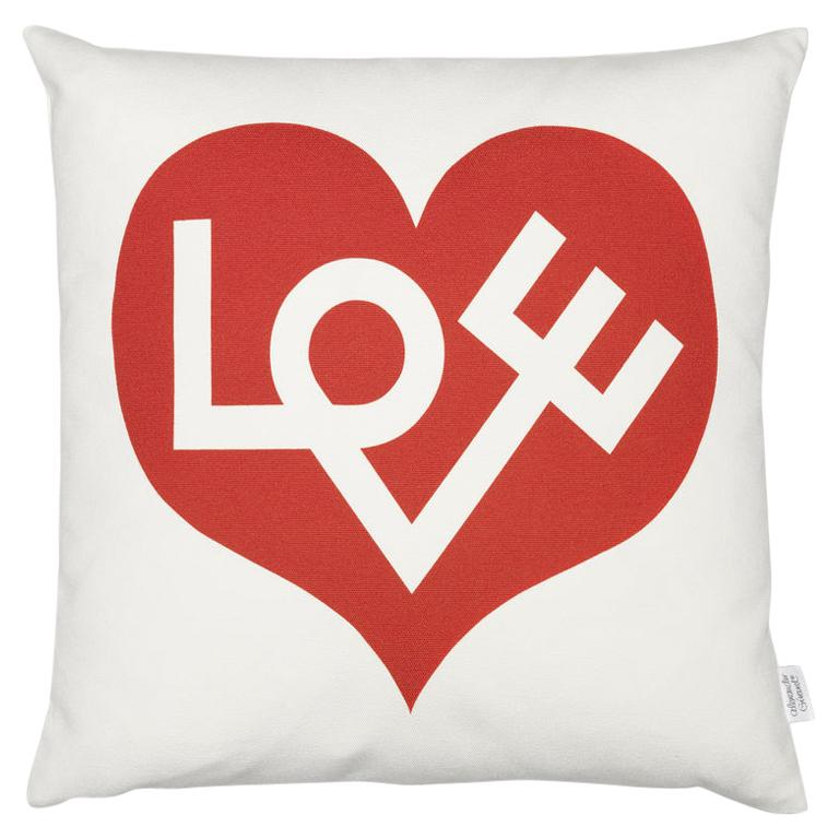 Vitra Graphic Pillow with Love Heart by Alexander Girard For Sale