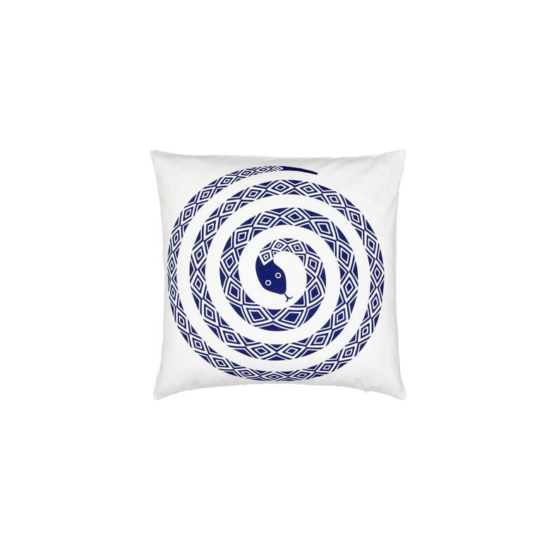 Vitra Graphic Pillow with Ultramarine Snake by Alexander Girard For Sale