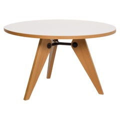 Vitra Gueridon Prouve Wood Dining Table White Round Table