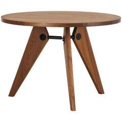Vitra Guéridon Table in American Walnut Oak by Jean Prouvé