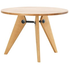 Vitra Guéridon Table in Natural Oak by by Jean Prouvé