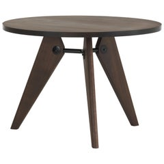 Vitra Guéridon Table in Smoked Oak by Jean Prouvé