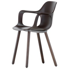 Vitra HAL Armchair Wood in Chocolate Seat Shell by Jasper Morrison