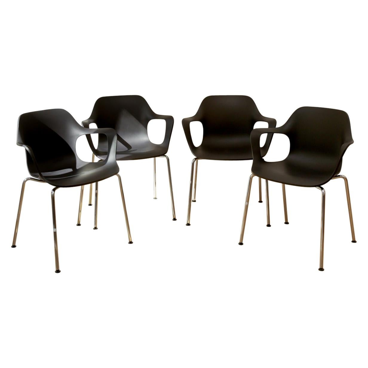Vitra HAL Industrial Modern Stackable Armchairs by Jasper Moreision
