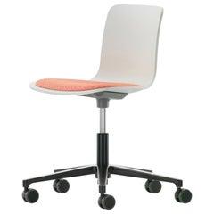 Vitra HAL Studio Chair in Ivory and Poppy Red Hopsak by Jasper Morrison