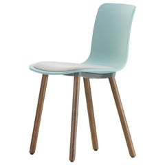 Vitra HAL Wood in Ice Grey with White Seat in by Jasper Morrison