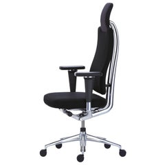 Vitra Headline Office Chair in Black with 3D Armrest by Mario & Claudio Bellini