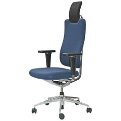 Vitra Headline Office Chair in Blue with 3D Armrest by Mario & Claudio Bellini