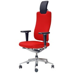 Vitra Headline Office Chair in Red with 3D Armrest by Mario & Claudio Bellini