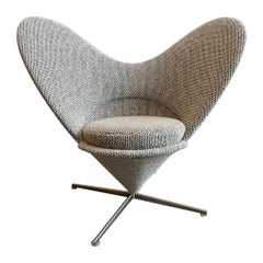 Vitra Heart Cone Swivel Chairs by Verner Panton in Wool Boucle