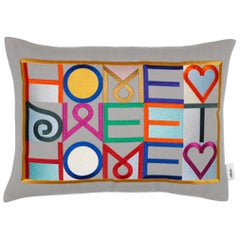 Vitra 'Home Sweet Home' Embroidered Pillow by Alexander Girard
