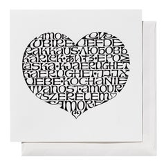 Vitra International Love Heart Greeting Card by Alexander Girard