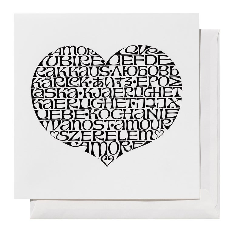 Limited Edition Vitra International Love Greeting Card by Alexander Girard For Sale