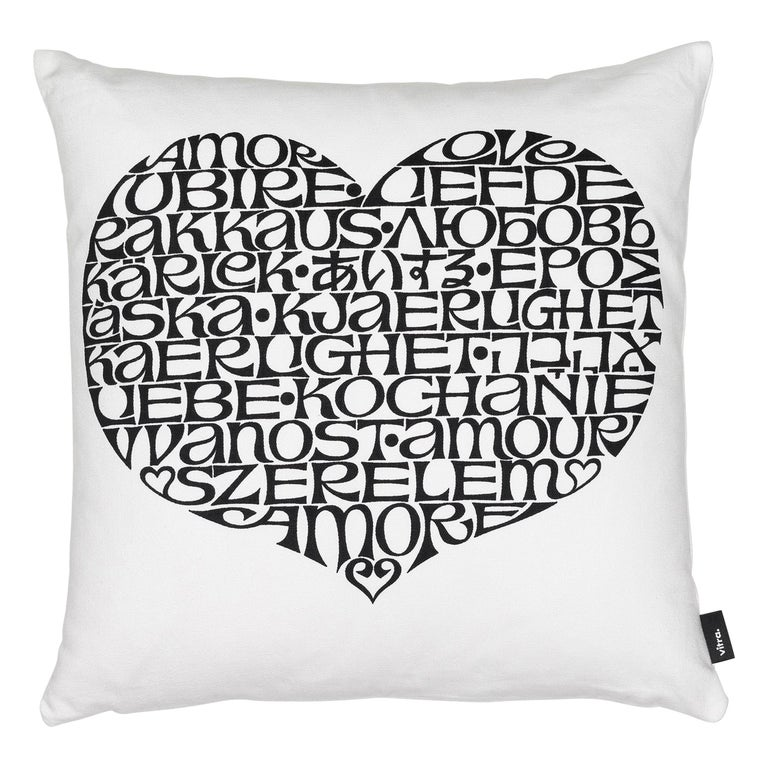 Vitra International Love Heart Pillow by Alexander Girard For Sale