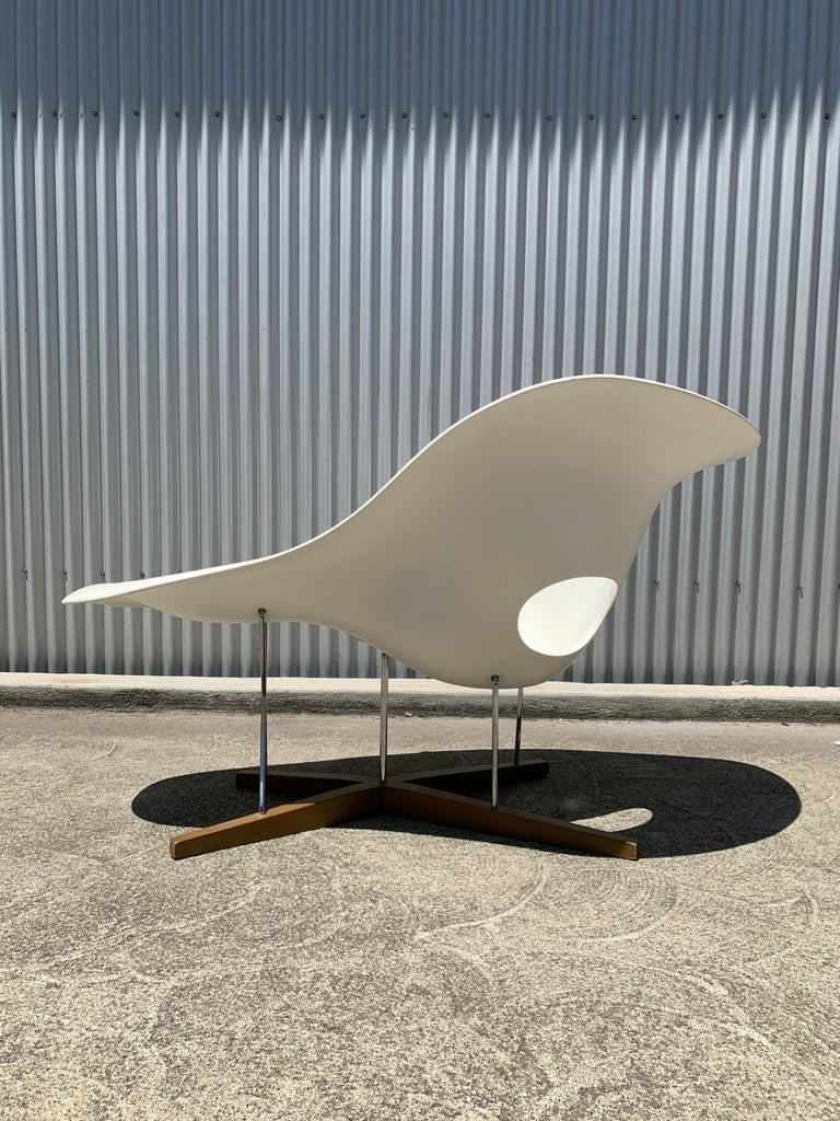 German Vitra La Chaise Chair by Charles and Ray Eames For Sale