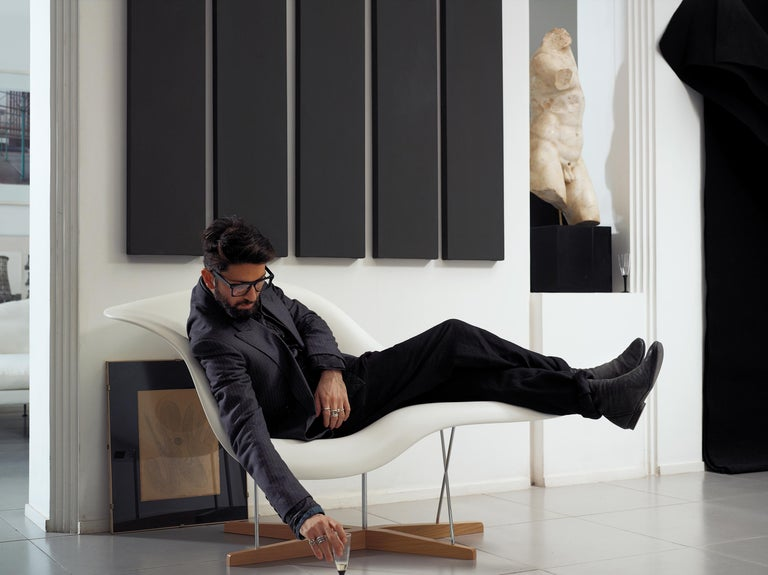 Modern Vitra La Chaise Chair by Charles & Ray Eames For Sale
