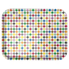 Vitra Large Classic Tray in Multi-Color Diamond by Alexander Girard, 1stdibs NY