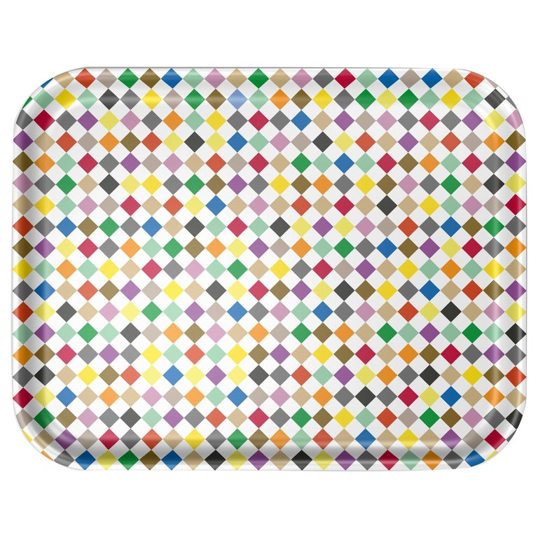 Vitra Large Classic Tray in Multi-Color Diamond by Alexander Girard, 1stdibs NY For Sale