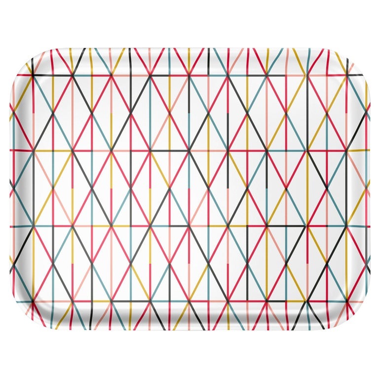 Vitra Large Classic Tray in Multicolor Grid by Alexander Girard, 1stdibs NY For Sale