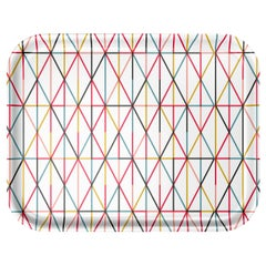 Vitra Large Classic Tray in Multicolor Grid Pattern by Alexander Girard