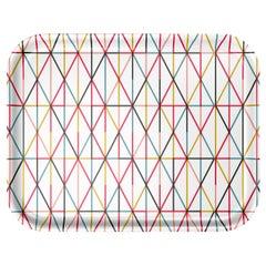Großes klassisches Tablett mit mehrfarbigem Gittermuster von Alexander Girard für Vitra