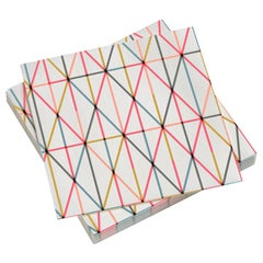 Vitra Large Paper Napkins in Multi-Color Grid Pattern by Alexander Girard