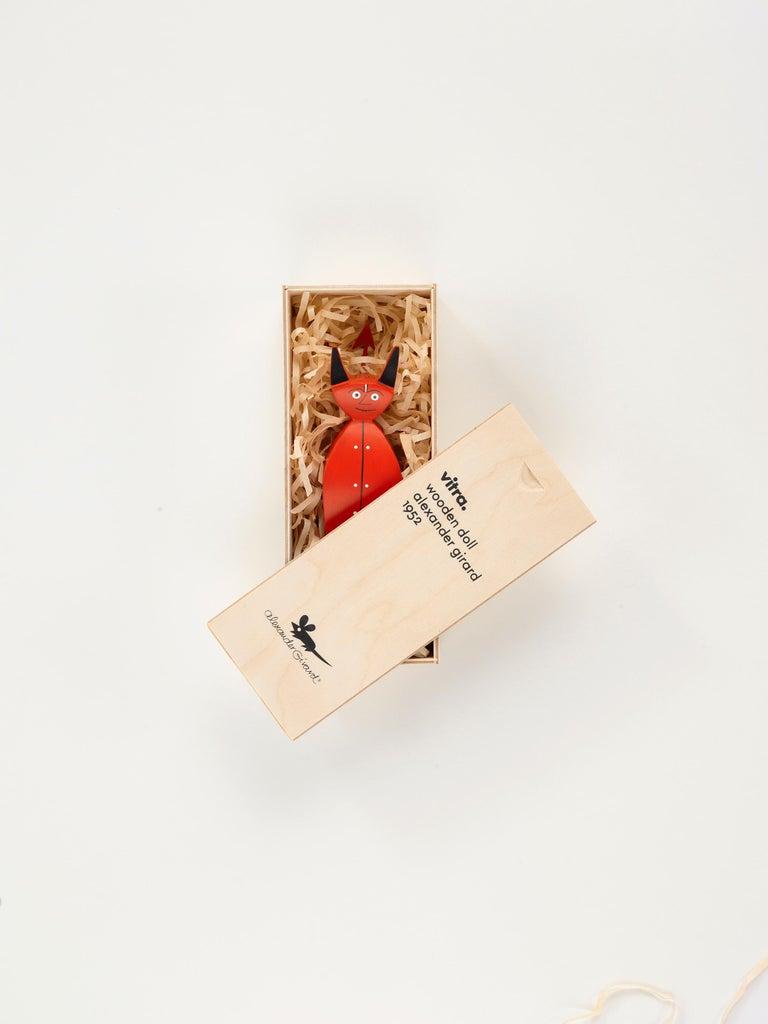 Swiss Vitra Little Devil Wooden Doll by Alexander Girard - 1stdibs New York For Sale