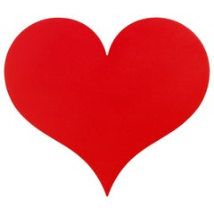 Vitra Little Metal Wall Relief Heart in Red by Alexander Girard