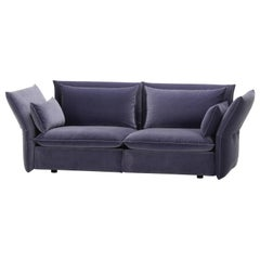 Vitra Mariposa 2-1/2 Seat Sofa in Blue Grey Shades by Edward Barber & Jay
