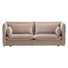 Vitra Mariposa 2-1/2 Seat Sofa in Pale Rose Shades by Edward Barber & Jay