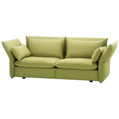 Vitra Mariposa 2 1/2-Seat Sofa in Sand Avocado by Edward Barber & Jay Osgerby