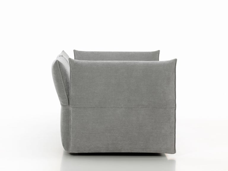Swiss Vitra Mariposa 2 1/2-Seat Sofa in Silver Grey by Edward Barber & Jay Osgerby For Sale