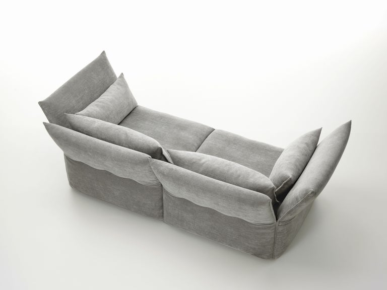 Vitra Mariposa 2 1/2-Seat Sofa in Silver Grey by Edward Barber & Jay Osgerby In New Condition For Sale In New York, NY