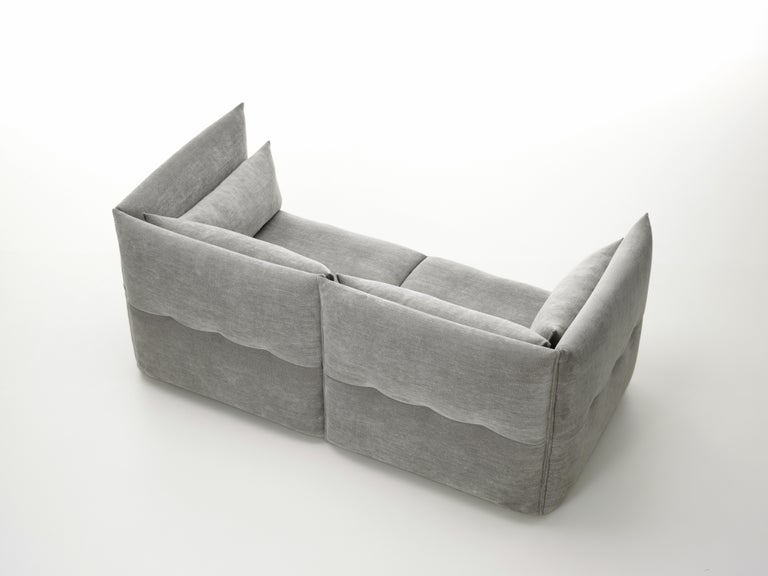 Contemporary Vitra Mariposa 2 1/2-Seat Sofa in Silver Grey by Edward Barber & Jay Osgerby For Sale