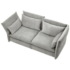 Vitra Mariposa 2 1/2-Seat Sofa in Silver Grey by Edward Barber & Jay Osgerby