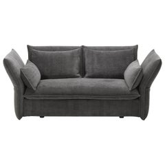 Vitra Mariposa 2-Seat Sofa in Dark Grey Shades by Edward Barber & Jay Osgerby