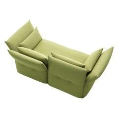 Vitra Mariposa 2-Seat Sofa in Sand Avocado Shades by Edward Barber & Jay