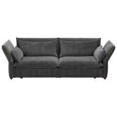Vitra Mariposa 3-Seat Sofa in Dark Grey Shades by Edward Barber & Jay Osgerby