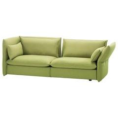 Vitra Mariposa 3-Seat Sofa in Sand & Avocado Credo by Edward Barber & Jay