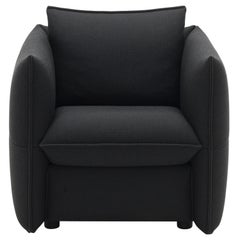 Vitra Mariposa Club Armchair in Black Plano by Edward Barber & Jay Osgerby