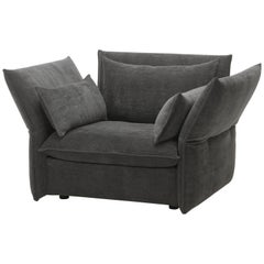 Vitra Mariposa Loveseat in Dark Grey by Edward Barber & Jay Osgerby 'Iroko 2'